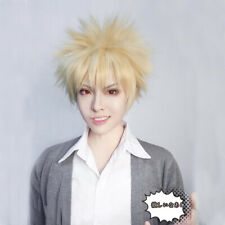 My Hero Academia Boku No Katsuki Bakugo Kacchan Cosplay Wig Blonde Mens Anime