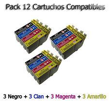 12 cartuchos Non Oem para Epson dx8400 dx4050 dx4400 dx4450 dx5000 dx5050 d120