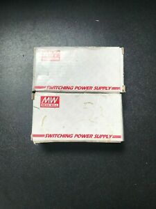 LOT OF 2 Mean Well RS-25-5 SA 25W NEW Power Supply