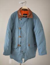 Snow Goose Jacket Down Parka Vintage Canada Goose Size Large Blue Leather Collar