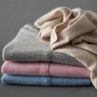 Sweater Fashion Lmitation Wool V-Neck Womens Slim Jumper elastic Knitted Winter