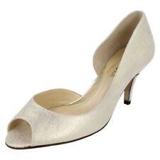 100% Leather Patternless Peep Toe Slim Heels for Women