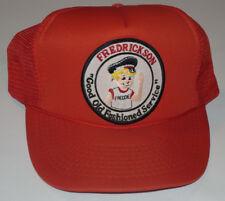 VINTAGE FREDRICKSON MOTOR EXPRESS TRUCKER SNAPBACK CAP/HAT!! RED! 'FREDDIE' LOGO