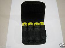 1 Nylon Case Holder Storage  For 4 x 18650 Battery belt holster clip hook