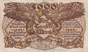 Germany 5000 Mark 1922 Mannheim  (B122)