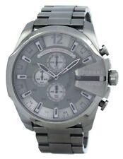Diesel Mega Chief Quartz Chronograph Grey Dial Black IP DZ4282 Men's Watch