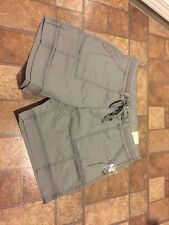 Women's Sonoma Goods For Life Twill Shorts Drawstring NWT Frost Gray Size 10