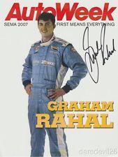2007 Graham Rahal signed AutoWeek CART Champ Car SEMA Show Promo postcard