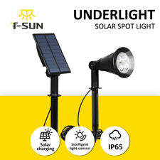Solar Spotlight Ground LED Light Outdoor Driveways Garden Security Lamp 6000K UK