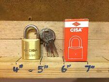 Cerradura Candado Endurecido Grillete Cisa Latón 20mm 2 llaves puerta de caseta Bicicleta 22010-20