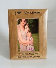CORNICE Foto NIPOTE-I heart-love mia nipote 5 x 7 CORNICE-INCISIONE GRATUITA