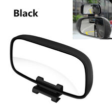 Universal Adjustable Wide Angle Car Blind Spot Snap Way Side Rear Mirrors Black