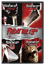 Friday the 13th: 4-Movie Collection (DVD, 2017, 4-Disc Set) Used Good