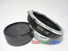 Canon EOS EF Lens to Leica M LM M9 M8 M7 M6 M5 M4 M3 MP M9-P M240 adapter + CAP