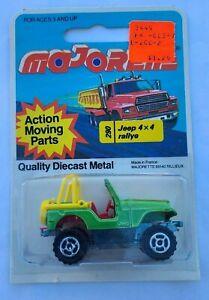 Majorette MOC Jeep 4x4 CJ-7 Rallye Metallic Green France Vintage