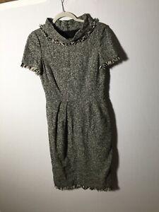oscar de la renta For Bergdorf Goodman Womens Wool Pencil Dress Size US 8 Aus 12