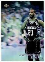 ALVIN ROBERTSON #AW2 UPPER DECK 1991-92 NBA BASKETBALL CARD STEALS HOLOGRAPHIC