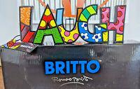 """ROMERO BRITTO /""""LIVE LOVE LAUGH /"""" WORD ART SET  AUTHENTIC"""