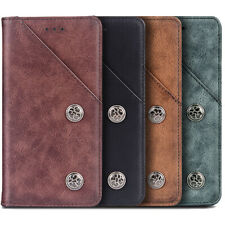 FLIP RETRO GENUINE LEATHER CASE TPU PHONE COVER WALLET FOR LG/SONY XPERIA/NOKIA