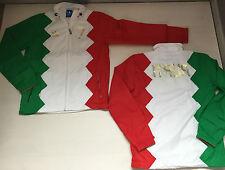 2571 FW15 ADIDAS ITALIA DEL PIERO 7 GIACCA JACKET ZIP GIACCHETTO FELPA track top