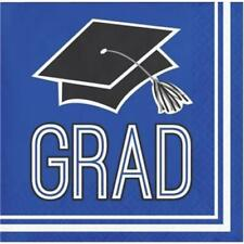 Graduation School Spirit Cobalt Blue Beverage Napkins 36 per Pack