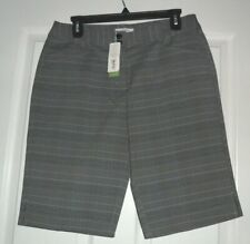 *CALLAWAY PERFORMANCE GOLF SHORTS SIZE 4 STRETCH GRAY PLAID NWT