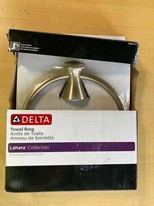 "Delta 73846-CZ Lahara 7"" Towel Ring Champagne Bronze Finish"