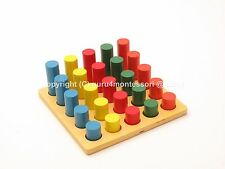 New Montessori Infant Toddler- Wooden Geometry Cylinder Ladder