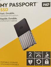 WD My Passport WDBKVX0020PSL-WESN 2 TB Portable Solid State Drive x 2.5 External