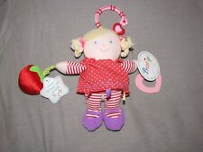 "8.5"" PRESTIGE STUFFED PLUSH BABY GIRL RATTLE DOLL TOY TEETHER SQUEAK APPLE LINK"