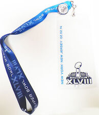 SUPER BOWL XLVIII 48 Lanyard With Ticket Holder & Collectors Pin