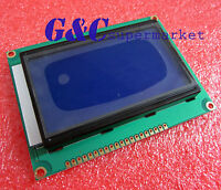 2PCS ST7920 128x64 Graphic LCD Blue Backlight for EasyPIC5 HIGH QUALITY QC12864B