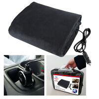 LARGE 12V ELECTRIC HEATED CAR VAN TRUCK POLAR FLEECE COZY WARM TRAVEL BLANKET
