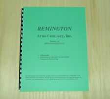 Remington Model 29 Shotgun Manual - 8 Pages - #84