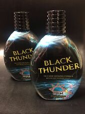 2 MOST Black Thunder 100X Dark Bronzing Tanning Lotion 13.5 oz
