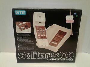 Vintage 1983 GTE Solitare 200 Cordless Telephone Rare New In Box