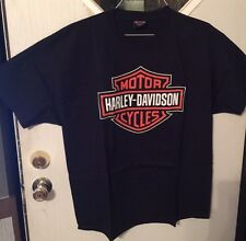 Men's Biker T-shirt - Used Chester's HD with map on back  (#26-S)
