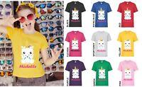 Personalizado (Nombre) Bebé Lindo Unicornio Novedad Niña Infantil Niños Camiseta