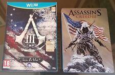 WIIU Nintendo Wii U Assassin 'S CREED 3 Join -  Collector' s Edition + STEELBOOK