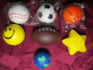 Squeezable Stress Relievers Smile Sport Star Globe
