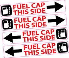 4x Carburante Tappo Serbatoio adesivo laterale dashboard promemoria diesel senza piombo NOLEGGIO AUTO FURGONE