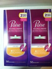 LOT 100 Poise Microliners Long  Length light absorbency bladder leakage protecti