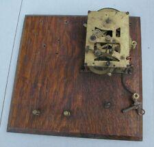 Antique Brass Mechanical Clock movement  Oak Board Electrical Device SteamPunk