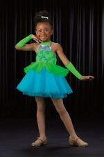 Limelight Dance Costume Ballet Babydoll Tap Dress with Sleeves Adult Small