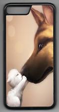 ALSATIAN KITTEN Phone Case Cover Hard Back iPhone 4 5 6 7 8 Plus X (B)