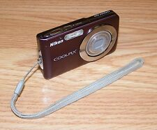 *FOR PARTS* Nikon COOLPIX (S210) 8.0 MP Digital Camera w/ Wrist Strap - Plum