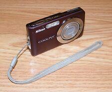 *FOR PARTS* Nikon COOLPIX (S210) 8.0 MP Digital Camera w/ Wrist Strap - Plum