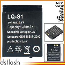 Bateria LQ-S1 Smartwatch QN01 QN-01 QW09 QW-09 V8 W8 X6 ZS06 Z6S 380mAh