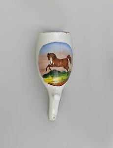 99840295 Porzellan Pfeifenkopf Pferd um 1900 handausgemalt