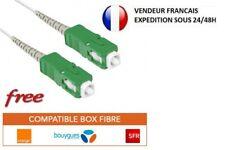 Câble Cordon fibre optique Box FREE ORANGE  SFR  BOUYGUES SOSH 1.5M